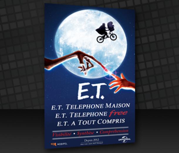Affiche – Détournement E.T. (Concours d'entreprise)
